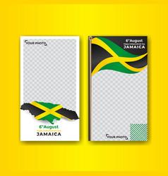 Jamaica independence day social media stories vector