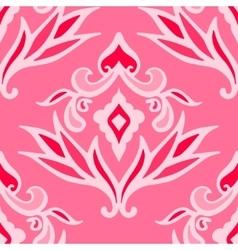 luxury pink damask seamless pattern vector image