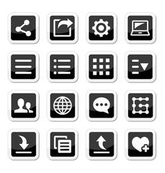 Menu settings tools icons set vector image vector image