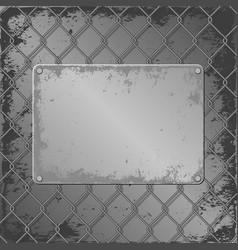 Metall plaque vector