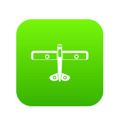 military fighter plane icon digital green vector image