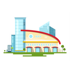 modern building isolated on white background flat vector image