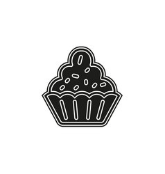 muffin - cupcake dessert - delicious sweet vector image