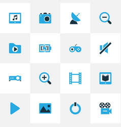 Music colorful icons set collection of mute vector