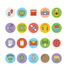 Networking and Communication Icons 1 vector image