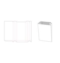 Paper bag die cut template vector