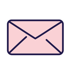 pink open envelope message communication icon vector image