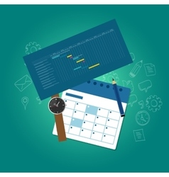 planning and scheduling time calendar timeline vector image