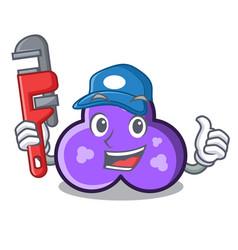 Plumber trefoil mascot cartoon style vector