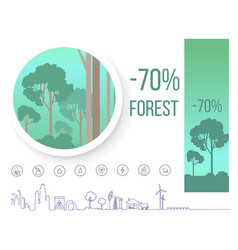 Poster devoted problem of deforestation on earth vector