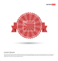 programming code icon - red ribbon banner vector image