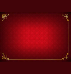 red circle link chinese abstract background vector image