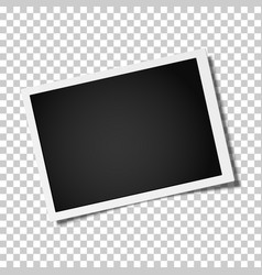 Retro realistic photo frame placed horizontally vector