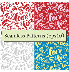Romantic red love pattern background vector