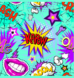 seamless pattern backgrounds comic book style vector image