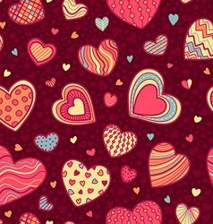 Seamless Valentine's pattern vector