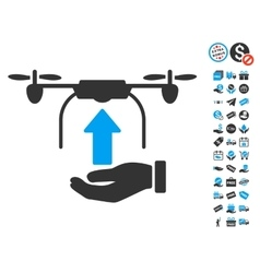 Send Drone Hand Icon With Free Bonus vector