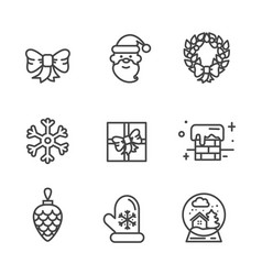 Set of transparent xmas icons vector