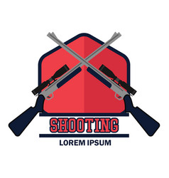 shooting logo with text space for your slogan vector image