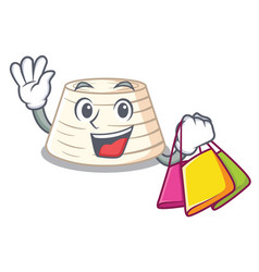 shopping soft italian ricotta cheese character vector image