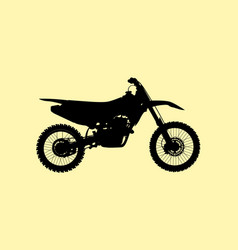 sport fast motocross bike model icon vector image