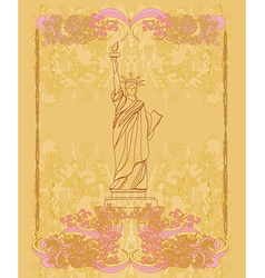Statue Of Liberty - vintage paper vector