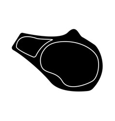 Steak the black color icon vector
