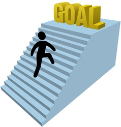 success goal vector image