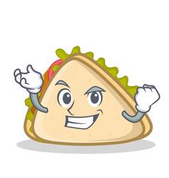 Successful sandwich character cartoon style vector