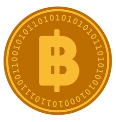 Thai baht digital coin vector