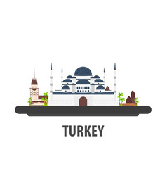 turkey travel location vacation or trip and vector image