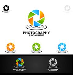 Water camera photography logo vector