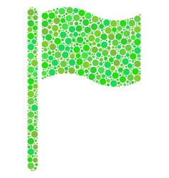 waving flag mosaic of dots vector image