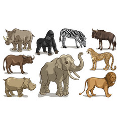 wild animals 001 vector image