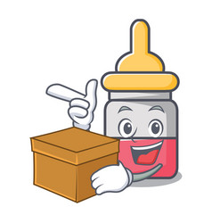 with box nassal drop character cartoon vector image