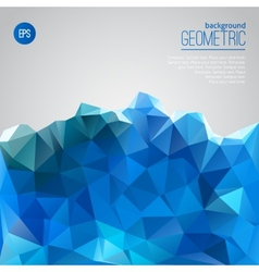 Blue mountain of triangles geometric template vector image vector image