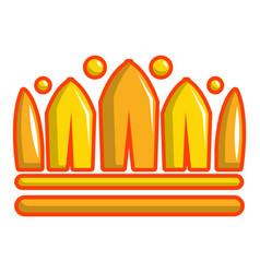 earl crown icon cartoon style vector image vector image