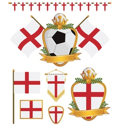 england flags vector image vector image
