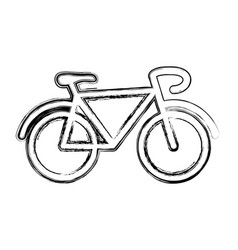 vintage bike symbol vector image