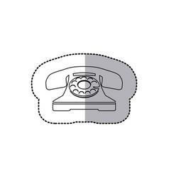 figure sticker color telephone icon vector image vector image
