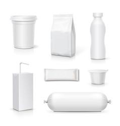 food and drink blank packaging set vector image