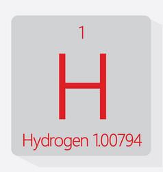 hydrogen vector image vector image