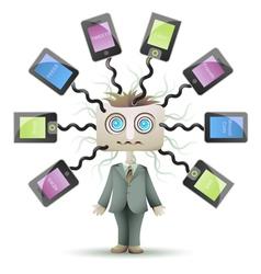 Lost in Social Network vector image vector image