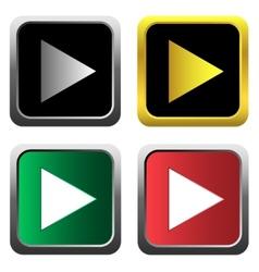 Play icon set vector image