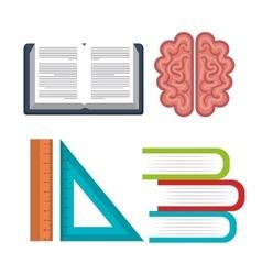 set equipment school online education design vector image