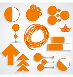Set of business infographic elements vector image
