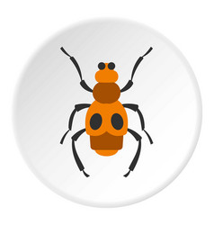 spotted bug icon circle vector image vector image