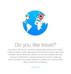 Travel icon Map of the earth vector image