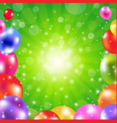 Birthday green sunburst poster vector