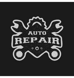 Car repair monochrome emblem vector image vector image